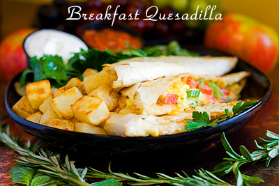 Breakfast Quesadilla on the Green Bay Menu