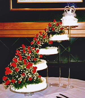 Wedding Cheesecake by Cheese Cake Heaven in Green Bay & the Wisconsin Dells